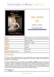 Visual Melodies (DVD) - Etoile des Sables