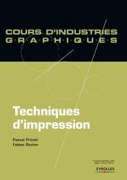 Techniques d'impression - Éditions d'Organisation