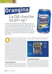 Orangina - LMDA - Le Monde De La Distribution Automatique