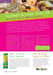 Sandwich & Snack Show 2011 - LMDA - Le Monde De La ...