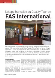 FAS International - LMDA - Le Monde De La Distribution Automatique