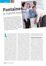 Fontaines… - LMDA - Le Monde De La Distribution Automatique