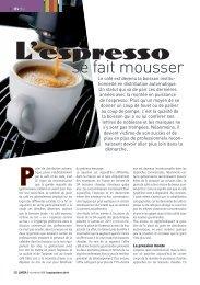 L'espresso se fait mousser - LMDA - Le Monde De La Distribution ...
