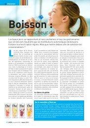 Boisson : jouez la fraîcheur de l'innovation - LMDA - Le Monde De ...
