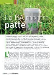 La DA montre patte verte - LMDA - Le Monde De La Distribution ...