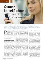 Quand le téléphone devient moyen de paiement - LMDA - Le Monde ...