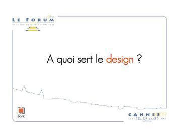 A quoi sert le design ?