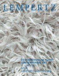 zeitgenössische kunst contemporary art 1. juni 2011 köln lempertz ...