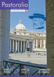 Pastoralia : Dossier Damien - L'Eglise catholique de Bruxelles