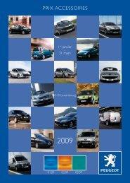 Prix accessoires - Peugeot