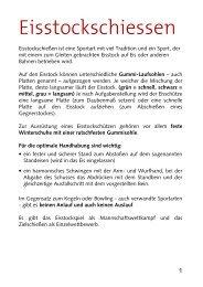 Spielregeln Eisstockschiessen - Surselva.info