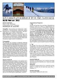 schneeschuhweekend Vrin Val lumnezia - Surselva.info