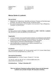 Ausschreibung Marcau Daniev 2011 - Surselva Info