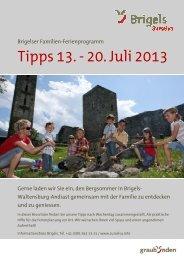 Tipps für die ganze Familie: 13. - 20. Juli 2013 - Surselva.info