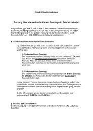 Stadt Friedrichshafen Satzung über die verkaufsoffenen Sonntage in ...