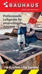 Professionelle Leihgeräte für anspruchsvolle Arbeiten - Bauhaus