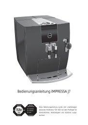 Bedienungsanleitung IMPRESSA J7 - Jura