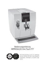 Bedienungsanleitung IMPRESSA J9.3 One Touch TFT