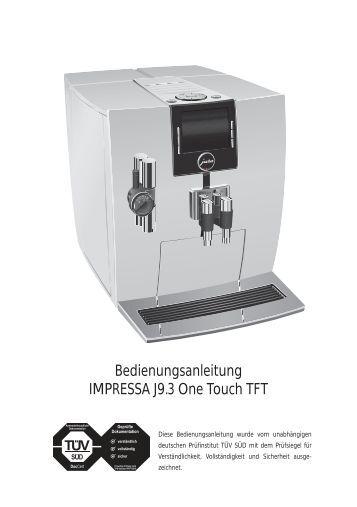 bedienungsanleitung jura impressa s9 one touch esperanza. Black Bedroom Furniture Sets. Home Design Ideas