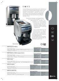 KORO Espresso HORECA Cappuccinatore - AUROHA GmbH