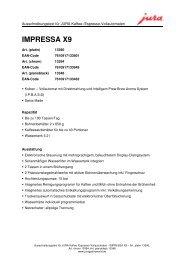 IMPRESSA X9 - Sus-kaffeeservice.de