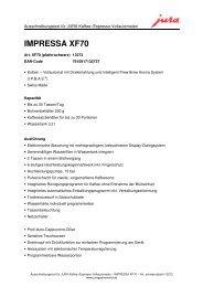 IMPRESSA XF70 - Sus-kaffeeservice.de