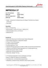 IMPRESSA X7 - Sus-kaffeeservice.de