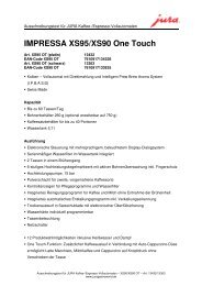 IMPRESSA XS95/XS90 One Touch - Sus-kaffeeservice.de