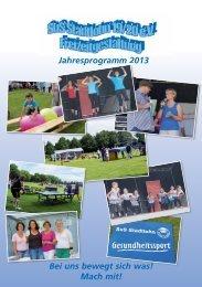 Jahresprogramm 2013 - SuS Stadtlohn 19/20 e.V.