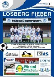 Sonntag, 11. November, um 14.30 Uhr im hülsta-Sportpark SuS ...