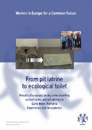 From pit latrine to ecological toilet - SSWM
