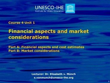 Financial aspects and market considerations - SuSanA