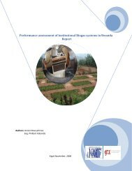 Performance assessment of Institutional Biogas systems ... - SuSanA