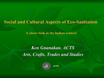 Social and Cultural Aspects of Eco-Sanitation A closer ... - SuSanA