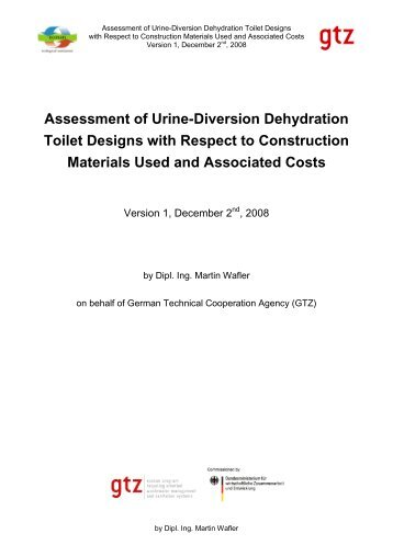 Assessment of Urine-Diversion Dehydration Toilet ... - SuSanA