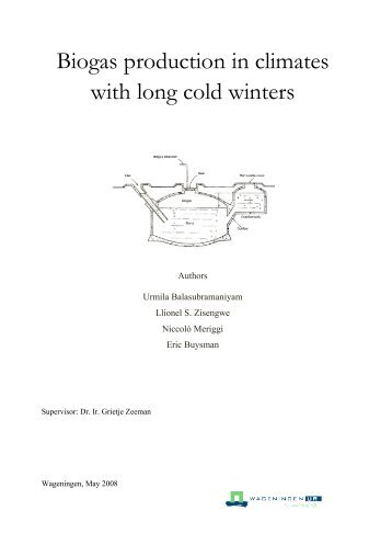 Biogas production in climates with long cold winters - SuSanA