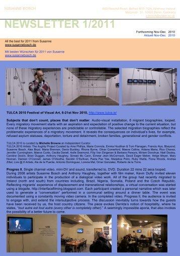 BOSCH newsletter 1-2011 - Susanne Bosch