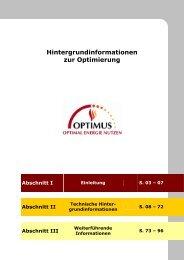 Hintergrundinformationen zur Optimierung Abschnitt I - DELTA-Q