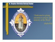St. Stephen Retreat Center - Coptic Orthodox Diocese of the ...