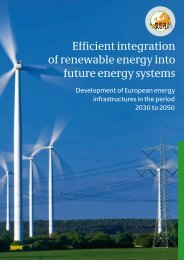Efficient integration of renewable energy into future energy systems