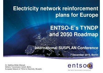 Electricity network reinforcement plans for Europe ENTSO-E - Dena