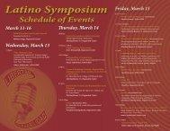 2013 Schedule of Events - Susquehanna University