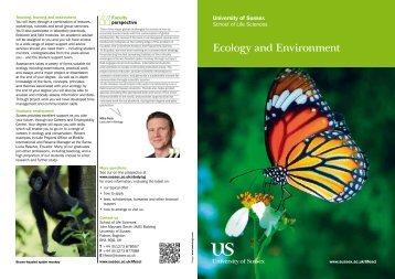 Ecology 2013 Booklet [PDF 127.93KB] - University of Sussex
