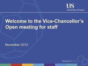 November 2013 - University of Sussex