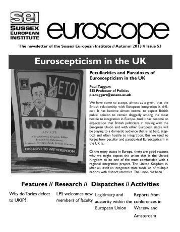 Euroscepticism in the UK - University of Sussex