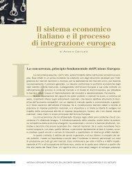 Il sistema economico italiano e il processo di integrazione europea