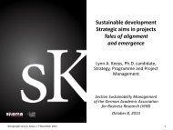 Lynn Keeys, SKEMA Business School: SD strategic aims in projects
