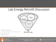 Lab Energy Retrofit Discussion - Sustainability at Caltech