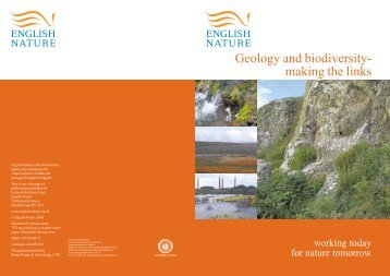 Geology and biodiversity - making the links