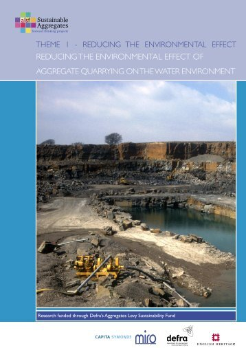 reducing the environmental effect of - Sustainable Aggregates